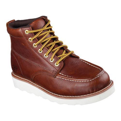 Skechers for Work Men's Pettus Work Boot, Red Brown, 11 M US