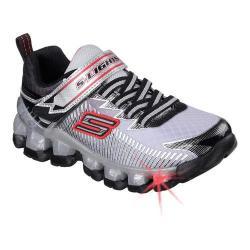 Boys' Skechers S Lights Flashpod Scoria Sneaker Silver/Black