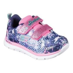 Girls' Skechers Skech-Lite Flexies Two Strap Sneaker Navy/Multi