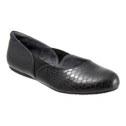 Women's SoftWalk Norwich Black Metal Glazed Snake