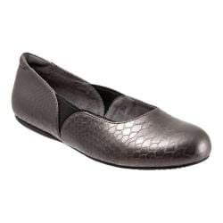 Women's SoftWalk Norwich Pewter Metal Glazed Snake