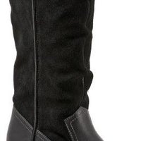 4bdc0a7af5221 Women s SoftWalk Rock Creek Wide Calf Boot Black Smooth Leather Cow Suede.  Sale