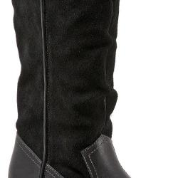 Women's SoftWalk Rock Creek Wide Calf Boot Black Smooth Leather/Cow Suede