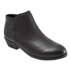 Women's SoftWalk Rocklin Boot Black Veg Tumbled Leather/Croco Leather