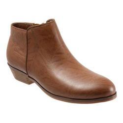 Women's SoftWalk Rocklin Boot Cognac Vintage Waxy Wrinkled Leather