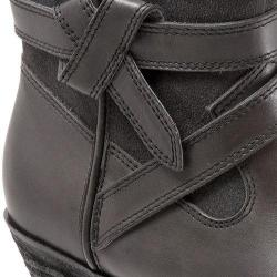 Women's SoftWalk Roper Bootie Dark Grey Smooth Leather/Cow Suede