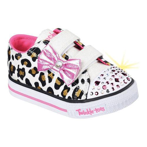 d6842d4f02 Girls' Skechers Twinkle Toes Shuffles Sparkle Sass Sneaker White/Pink