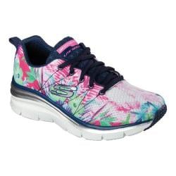 Women's Skechers Fashion Fit Spring Essential Sneaker Navy/Multi