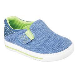 Boys' Skechers Lil Lad Studdly Slip On Sneaker Blue/Lime