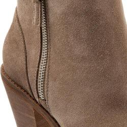 Womens SoftWalk Fairhill Bootie Dark Taupe Cow Suede