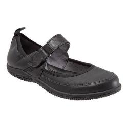 Women's SoftWalk Haddley Mary Jane Black Tumbled Leather