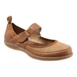 Women's SoftWalk Haddley Mary Jane Luggage/Tan Tumbled Buff Leather