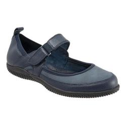 Women's SoftWalk Haddley Mary Jane Navy Tumbled Leather