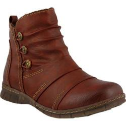 Women's Spring Step Anatol Ankle Boot Bordeaux Synthetic