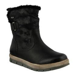 Women's Spring Step Yamma Ankle Boot Black Synthetic