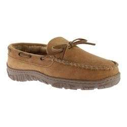 Men's Clarks Outside Seam Moccasin Slipper Tan Leather