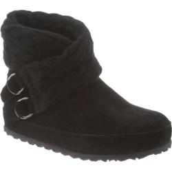 Women's Bearpaw Alison Pull On Boot Black II Cow Suede