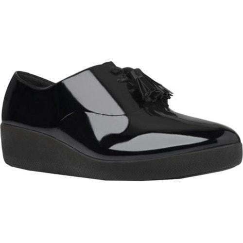 2ec16b8a8fe5 Shop Women s FitFlop Classic Tassel Superoxford Patent All Black Patent  Leather - Free Shipping Today - Overstock - 13004860