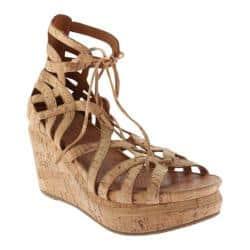 59066b5cf3a Women's Gentle Souls Joy Gladiator Wedge Sandal Natural Cork    Overstock.com Shopping - The Best Deals on Wedges