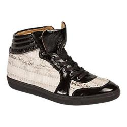 Men's Mezlan Dimitrio High Top Black/Natural Snakeskin/Calf