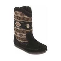 Women's Minnetonka Baja Boot Black Suede
