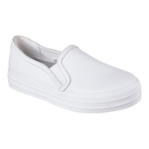 5bef625cebed Shop Women s Skechers OG 97 Double Up Sleek Street Slip On Sneaker  White Silver - Free Shipping On Orders Over  45 - Overstock - 13004879