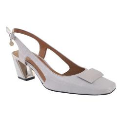 Women's J. Renee Samina Slingback Cement Faux Crinkle Patent Leather