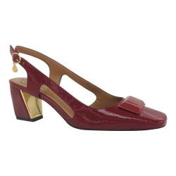 Women's J. Renee Samina Slingback Red Faux Crinkle Patent Leather