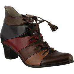 Women's Spring Step Estrela Lace Up Brown Multi Leather