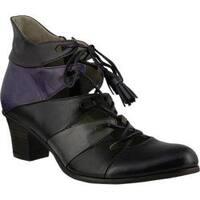Women's Spring Step Estrela Lace Up Purple Multi Leather