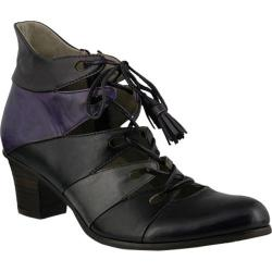 Women's Spring Step Estrela Lace Up Purple Multi Leather