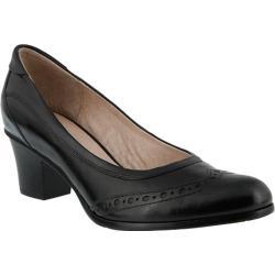 Women's Spring Step Itambe Pump Black Leather