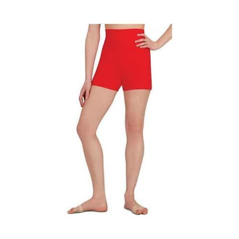 Women's Capezio Dance High Waisted Short (Set of 2) Red