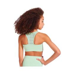 Women's Capezio Dance Diamond Sweetheart Bra Top Aloe Green