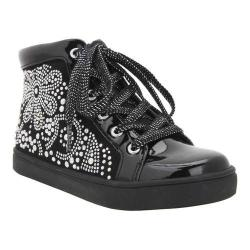 Girls' Nina Nanon Sneaker Black Microsuede