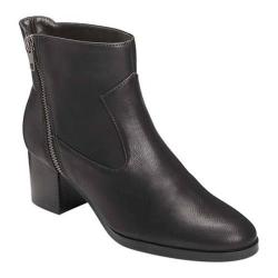 Women's A2 by Aerosoles Homeroom Ankle Boot Black Faux Leather