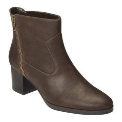 Women's A2 by Aerosoles Homeroom Ankle Boot Brown Faux Leather