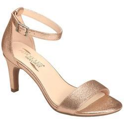 Women's Aerosoles Laminate Ankle Strap Sandal Pink Metallic