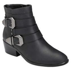 Women's Aerosoles My-Time Ankle Boot Black Leather