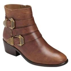 Women's Aerosoles My-Time Ankle Boot Dark Tan Leather