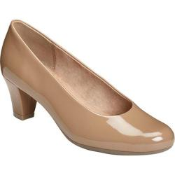 Women's Aerosoles Shore-Thing Pump Light Tan Patent