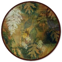 WGI Gallery Wood Maple & Fern Leaves Lazy Susan