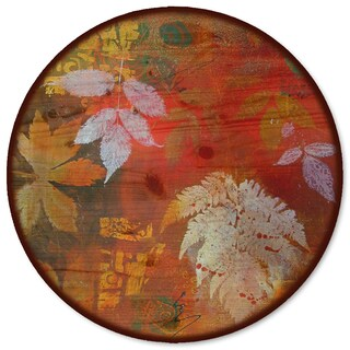 WGI Gallery 'Leaves Red' Wood Lazy Susan