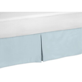 Sweet Jojo Designs Blue and Taupe Hayden Toddler Bed Skirt