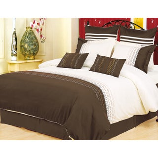 Superior Vanessa 7-piece Embroidered Microfiber Duvet Cover Set
