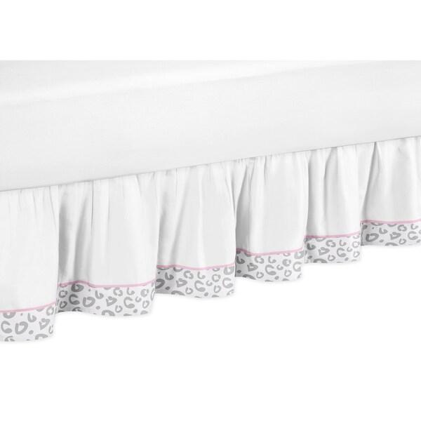 Sweet Jojo Designs Pink and Gray Kenya Toddler Bed Skirt