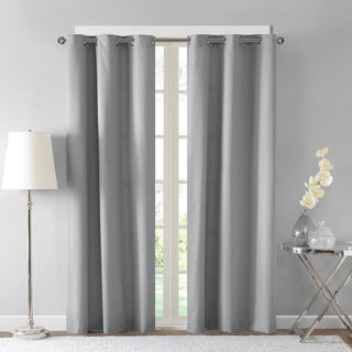 Madison Park Essentials Tira Jacquard Room Darkening Window Curtain Pair