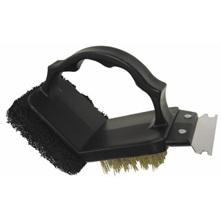 GrillPro 77350 2 Way Grill Brush With Scrubber