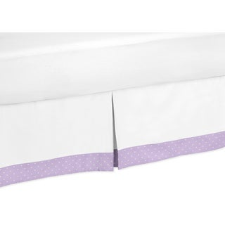 Sweet Jojo Designs Lavendar and White Suzanna Toddler Bed Skirt