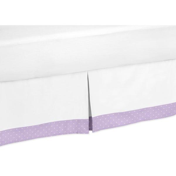 Sweet Jojo Designs Lavendar and White Suzanna Toddler Bed Skirt